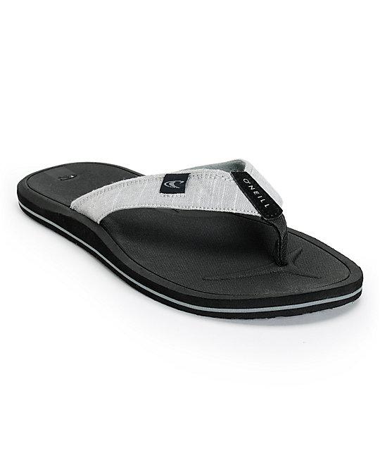 30c14195c17be3 O Neill Nacho Libre 2 Grey   Black Sandals