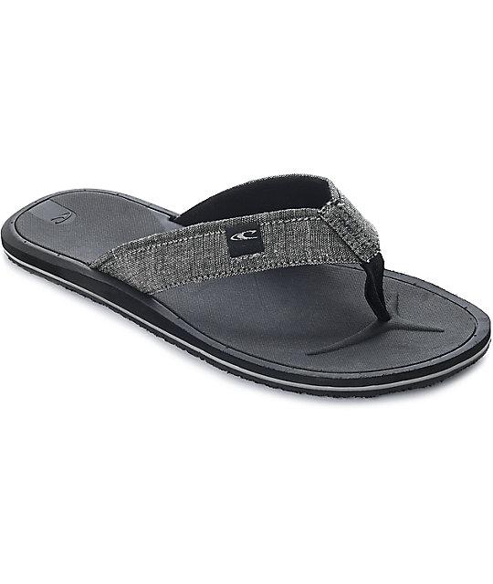 buy online 1146f 05ef5 O'Neill Nacho Libre Charcoal Sandals