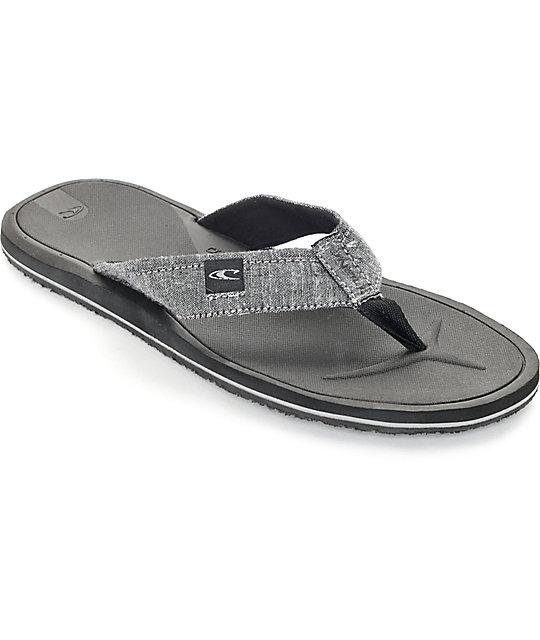 381656a0843038 O Neill Nacho Libre Dark Charcoal Sandals