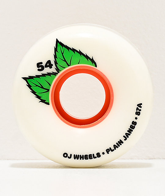 OJ Keyframe Plainjanes 54mm 87a White Cruiser Wheels