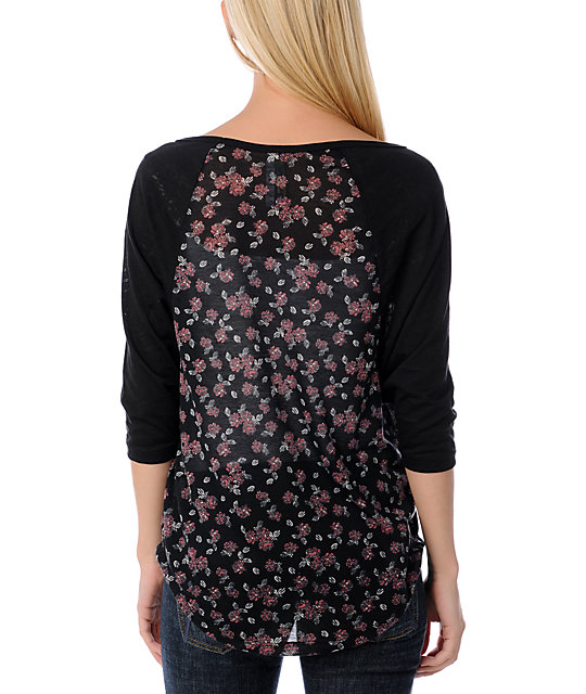 ONeill Game Day Floral Top