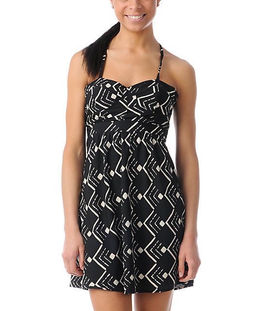 ONeill Luna Black Tribal Print Dress