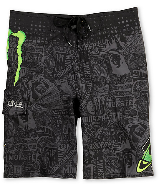 ONeill Monster Freak Black Board Shorts