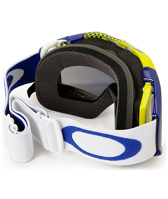 Oakley Airbrake Halftone Blue & Yellow Snowboard Goggles
