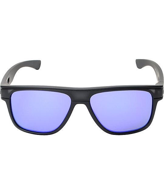 bd2d9f6d1c ... Oakley Breadbox Matt Black Ink   Violet Iridium Sunglasses