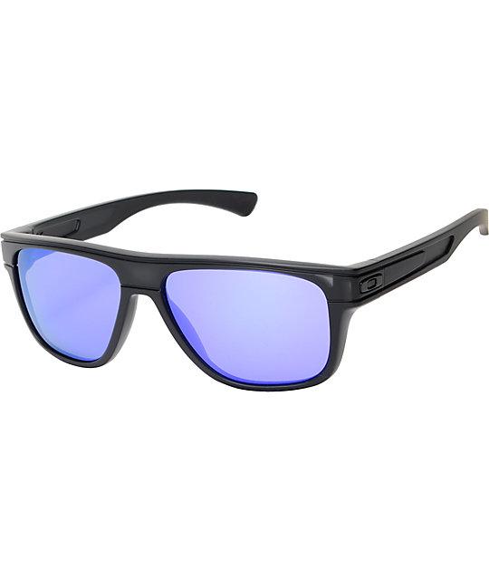628a726e02 Oakley Breadbox Matt Black Ink   Violet Iridium Sunglasses