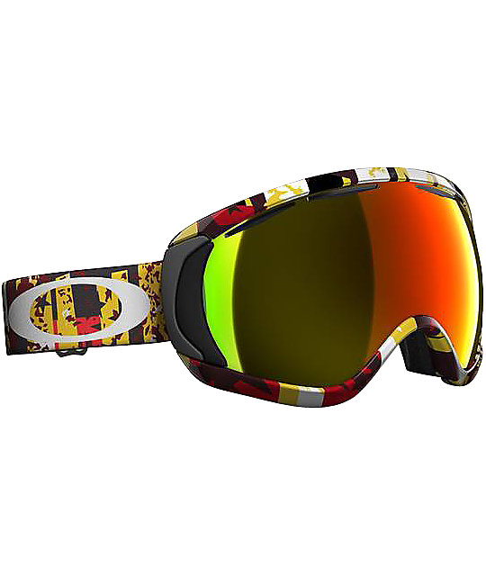 Oakley Canopy Rocked Out Red Snowboard Goggles ...  sc 1 st  Zumiez & Oakley Canopy Rocked Out Red Snowboard Goggles | Zumiez