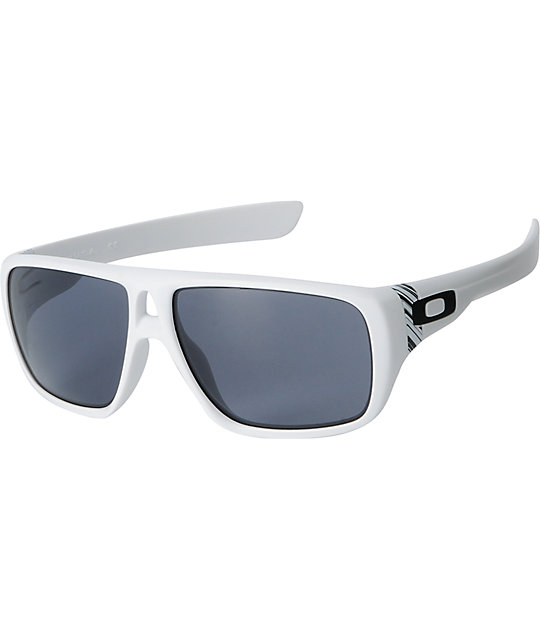 Oakley Dispatch Matte White & Grey Sunglasses
