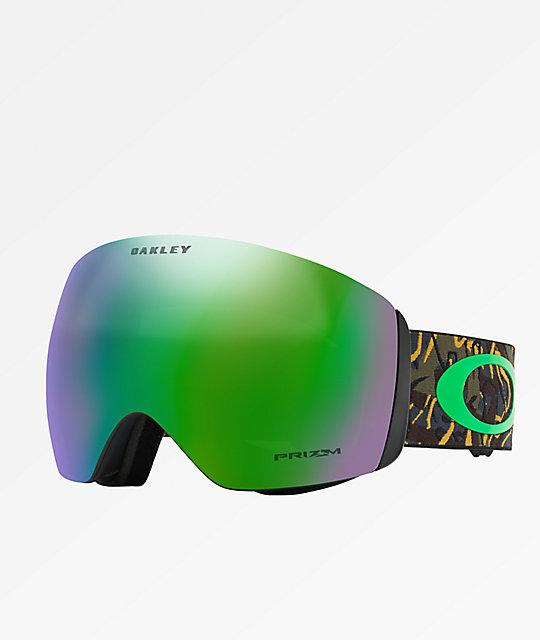 84bf1465b03a Oakley Flight Deck Camo Vine Jungle   Prizm Jade Snowboard Goggles ...