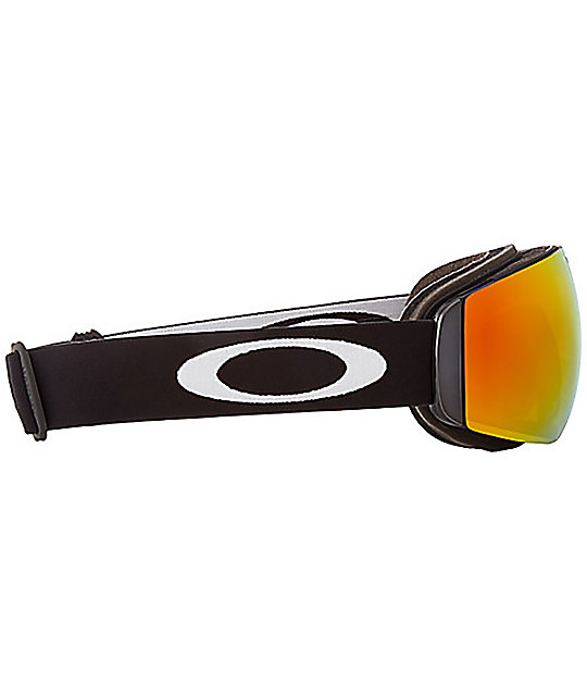 eca9ed8585 Oakley Flight Deck Matte Black Fire Iridescent Snowboard Goggles ...