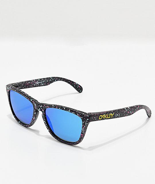 Oakley Frogskins Black Splatter Prizm Sunglasses  32e45bf93329