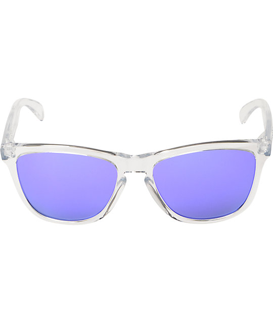 Oakley Frogskins Clear & Violet Iridium Sunglasses