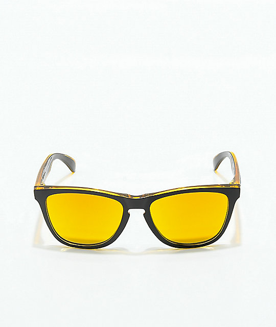 Oakley Frogskins Grips Black, Yellow & Fire Sunglasses