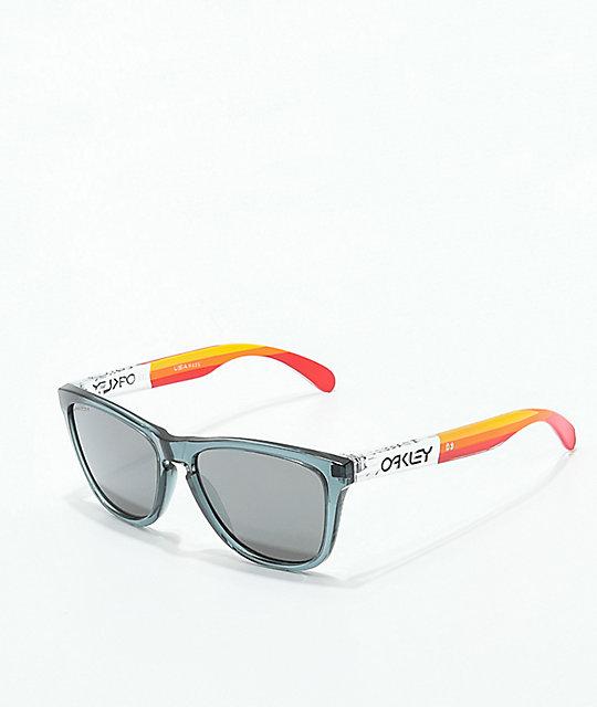 2d59f8e5eab6 Oakley Frogskins Grips Crystal Black Prizm Sunglasses