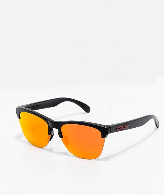 04226824e9a Oakley Frogskins Lite Black   Ruby Prizm Sunglasses