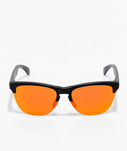 36453ddbdbf ... Oakley Frogskins Lite Black   Ruby Prizm Sunglasses ...