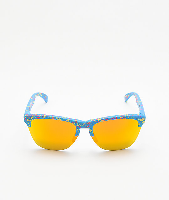 75c38fe271 ... Oakley Frogskins Lite Sky Blue Splatter Sunglasses