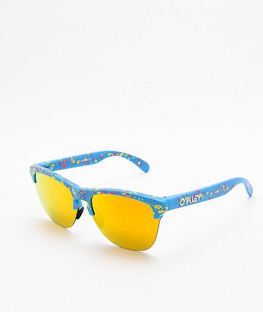2d06cc0816 Oakley Frogskins Lite Sky Blue Splatter Sunglasses