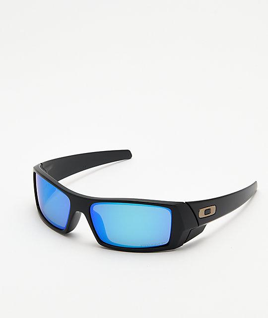 92613cf1be Oakley Gascan Matte Black Sapphire Polarized Sunglasses