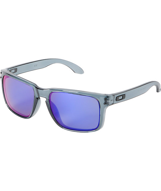 Oakley Holbrook Crystal Black & Positive Red Iridium Sunglasses