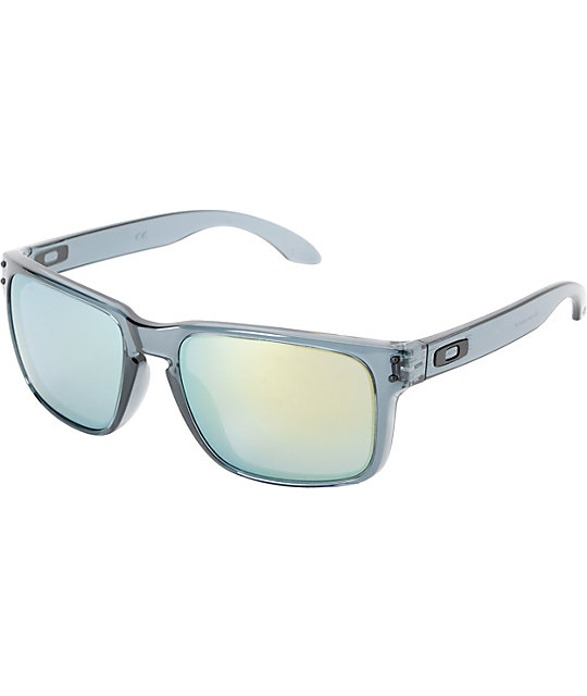 Oakley Crystal Holbrook Blackamp; Iridium Sunglasses Emerald vmnwNPyO80