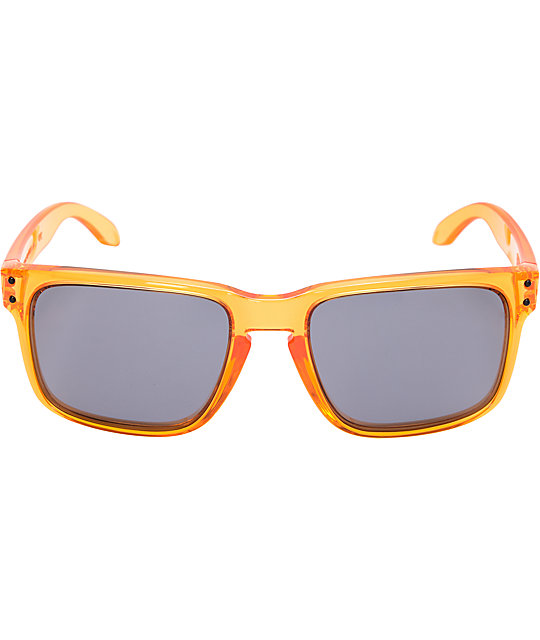 Oakley Holbrook Crystal Orange Sunglasses