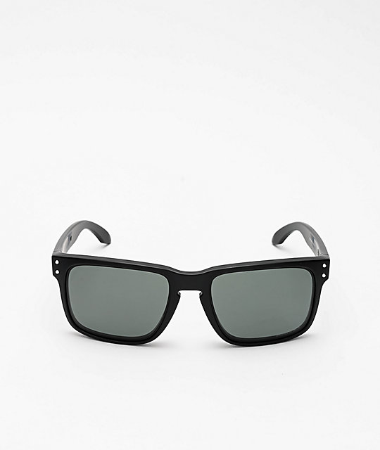 Oakley Holbrook Matte Black & Grey Prizm Sunglasses