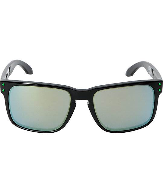 Oakley Holbrook Moto GP Black & Emerald Iridium Sunglasses