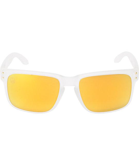 0944ec7420b37 ... free shipping oakley holbrook shaun white matte clear gold polarized  sunglasses 02f3a 5ac47 ...