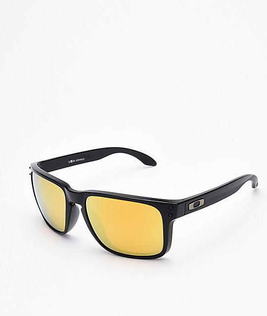 7d863a75c3 Oakley Holbrook XL Black   24K Polarized Sunglasses