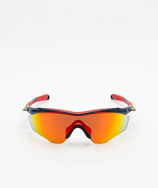 Oakley M2 XL Snapback Navy & Red Prizm Sunglasses