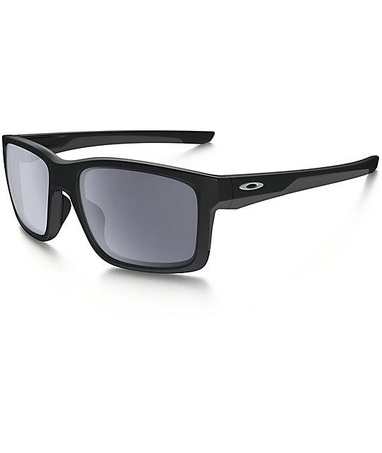 16e83fda2ada Oakley Mainlink Matte Black   Grey Sunglasses