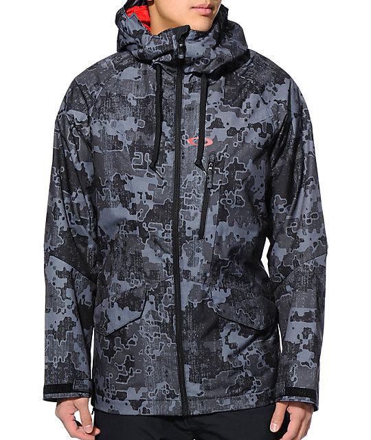 Oakley Mission Black 10K Snowboard Jacket ...