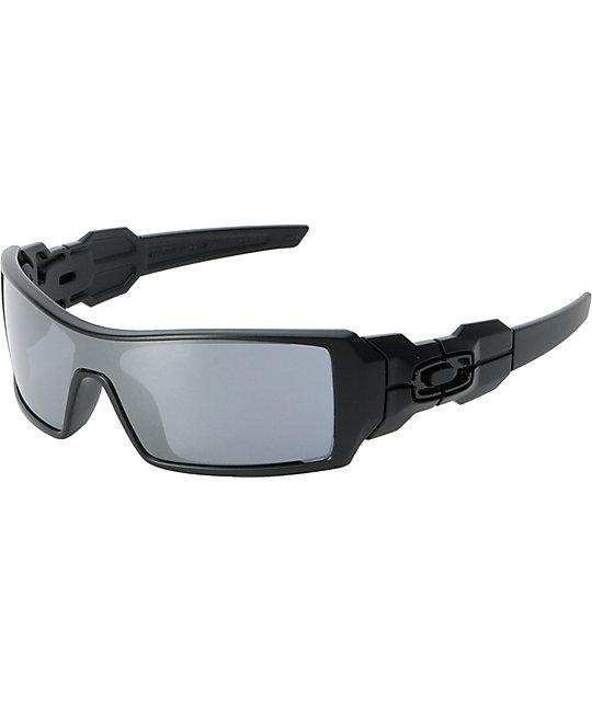 oakley oil rig matte black black iridium sunglasses zumiez rh zumiez com