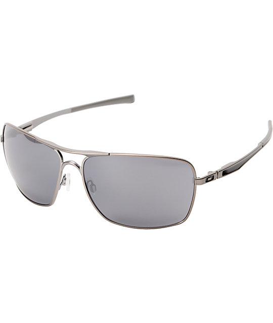 d8488034c Oakley Plaintiff Squared Silver & Black Iridium Sunglasses | Zumiez
