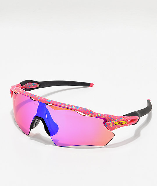 037595113fb Oakley Radar Neon Pink Splatter Prizm Polarized Sunglasses