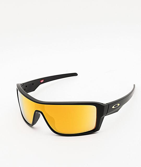 Oakley Ridgeline Black & 24K Prizm Polarized Sunglasses
