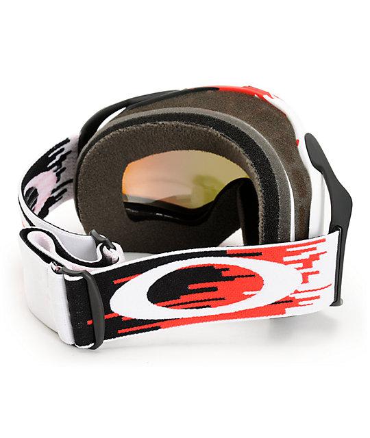 Oakley Splice Hyperdrive Red Amp Fire Iridium Snow Goggles