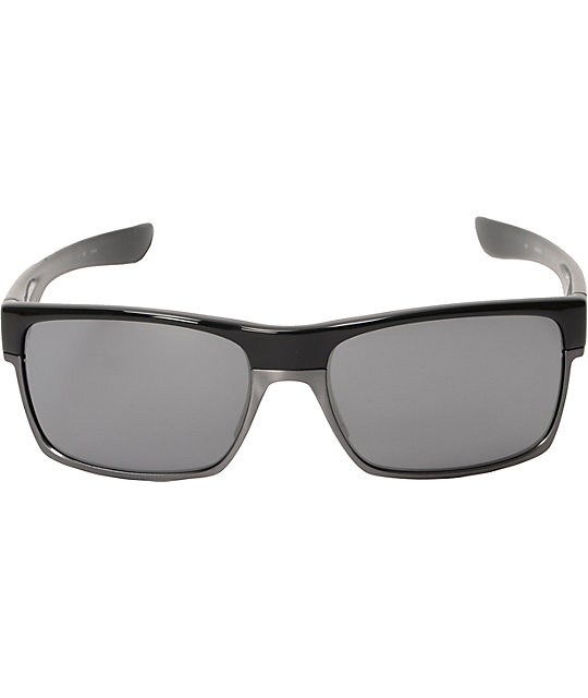 Oakley Two Face All Black Iridium Polished Sunglasses