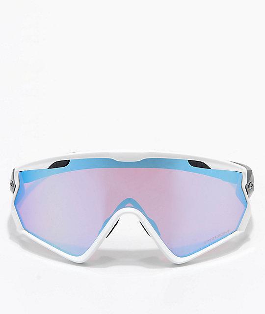 7e156fada5bb ... Oakley Wind Jacket 2.0 Matt White   PRIZM Snow Sapphire Iridium  Sunglasses ...