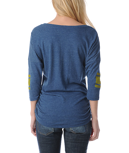 Obey 0-89 Heather Navy Tri-Blend Dolman Jersey