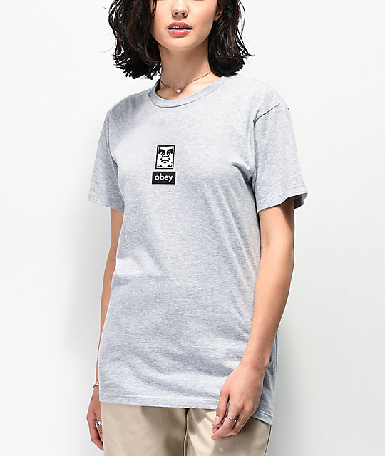 Obey 30 Years of Dissent Icon Face camiseta gris