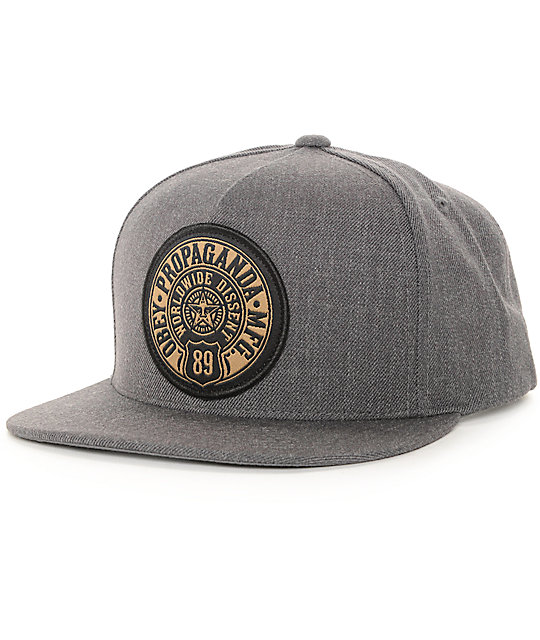 ... new zealand obey 89 prop charcoal snapback hat 28c66 5016c ... ab6c3a62ab06