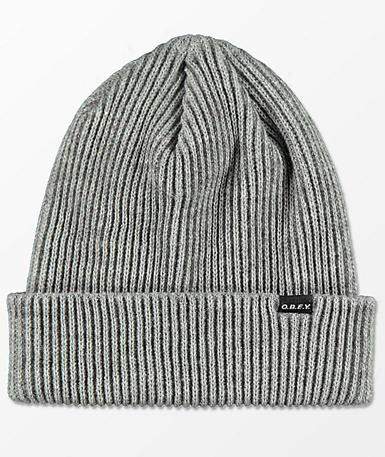 Obey Acacia Heather Grey Beanie