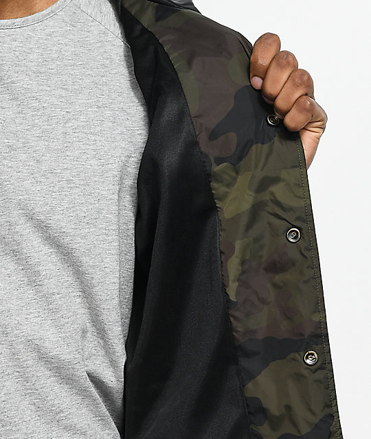 Obey Afton Camo Coaches Jacket
