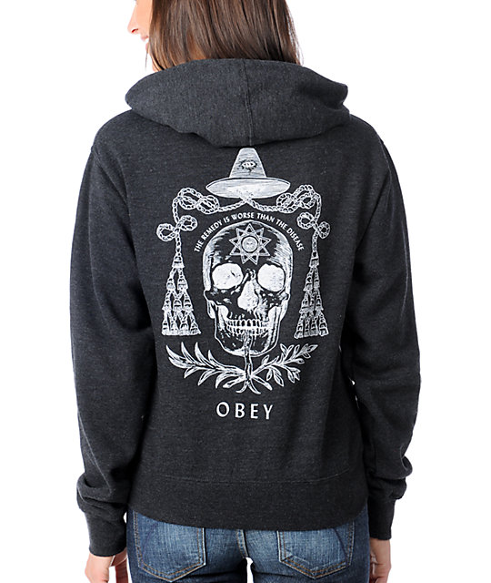 Obey Alchemist Charcoal Pullover Hoodie