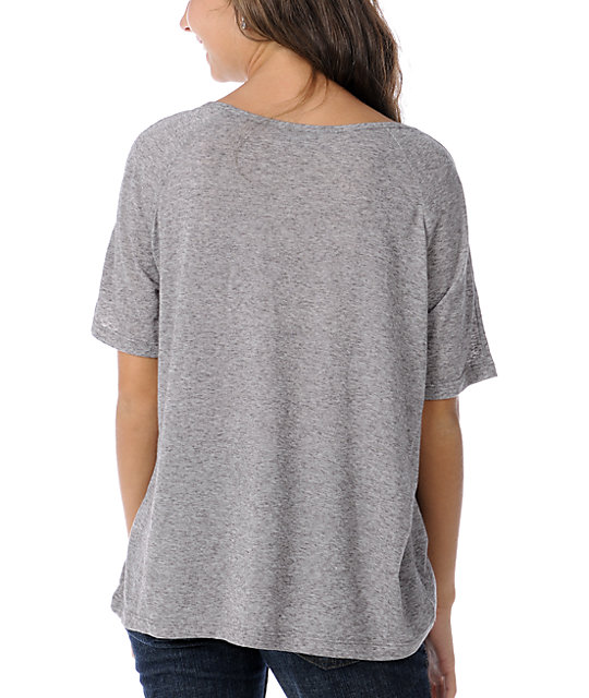 Obey Alchemist Heather Grey Nubby Burnout T-Shirt