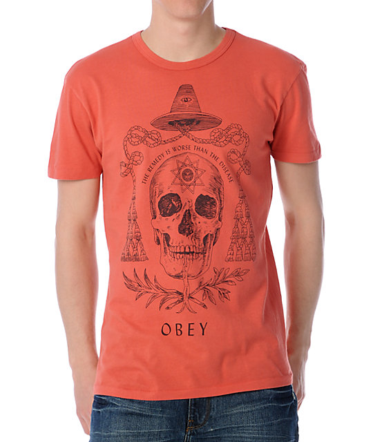 Obey Alchemist Paprika Orange T-Shirt