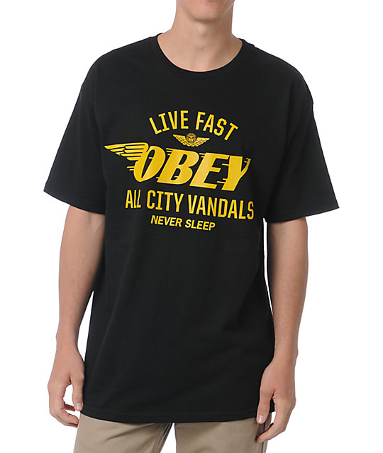 Obey All City Vandals Black T-Shirt