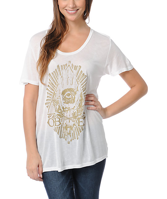 Obey All Eye White Beau T-Shirt